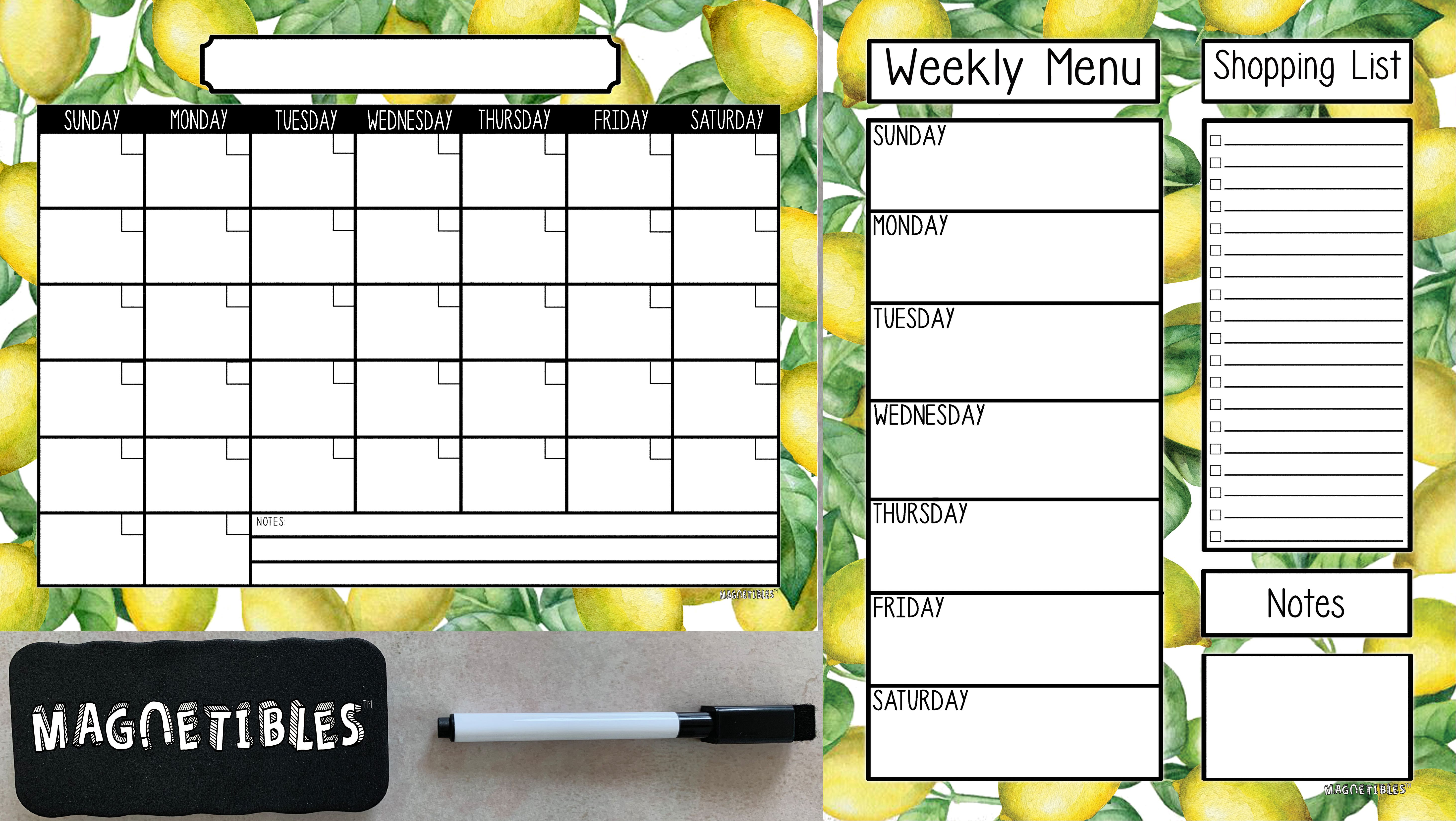 Finally Designer Magnetic Calendars And Menu Planners That Will