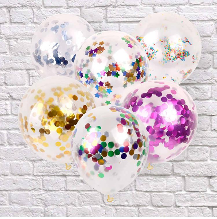 10pcs  Confetti Latex Round Balloon Wedding Decoration Birthday Party