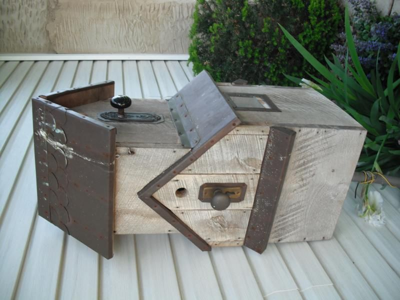 Pin By Terry Highton On Wood Craft Yard Decor Bird House Electrical Box Cover
