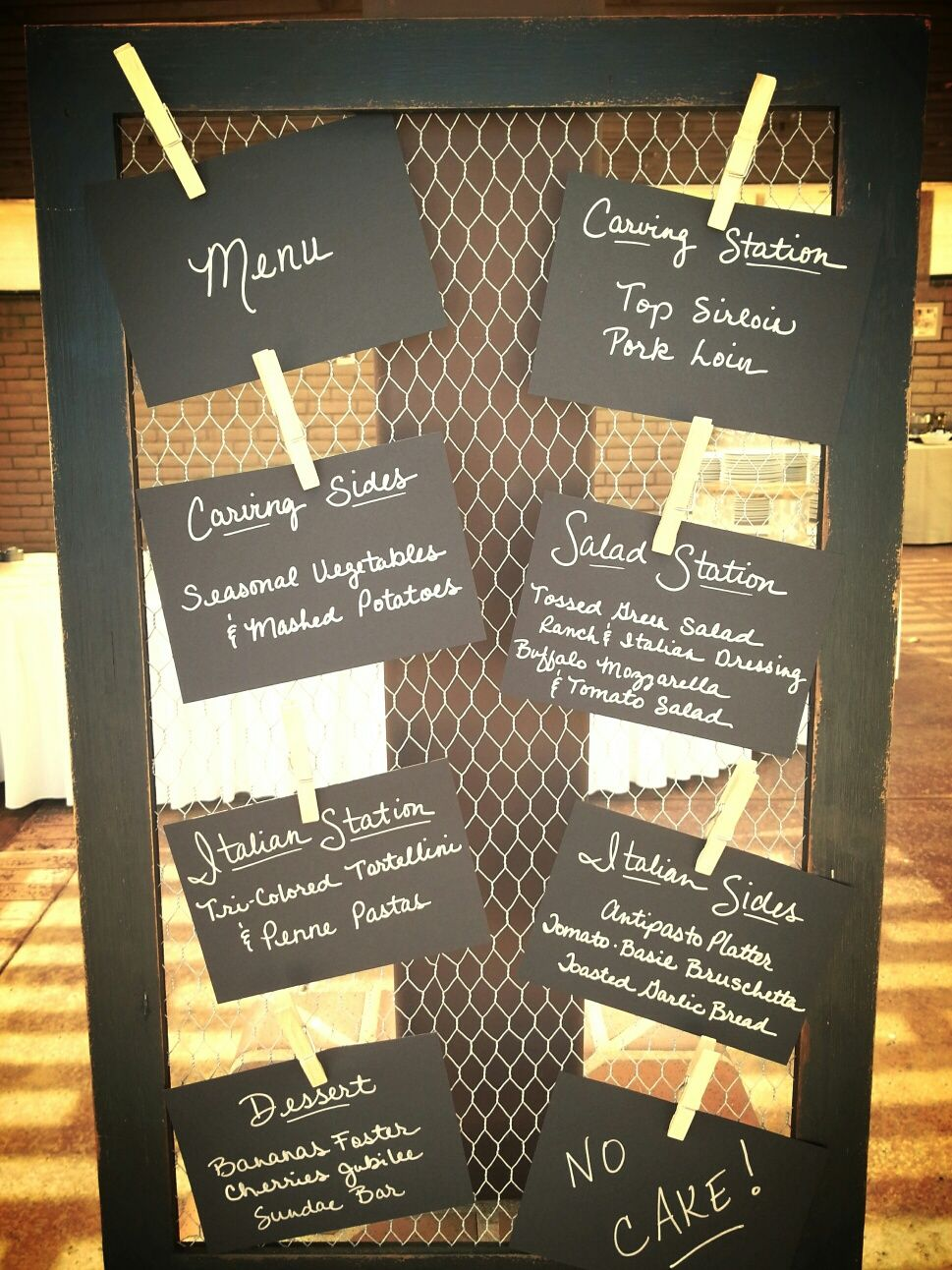 Fun way to display your menu Buffet dinner at Sycuan Resort