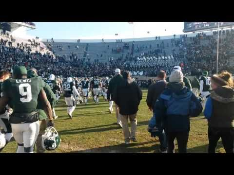 Msu Postgame Celebration Vs Minnesota Youtube Msucollegefootball Michigan State Spartans College Football Minnesota