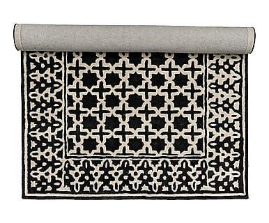 Tappeto in cotone Persian bianco/nero, 300x2x200 cm