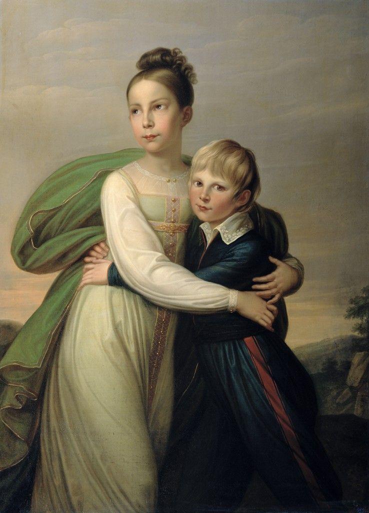 Skh Prinzessin Louise Hohenzollern Und Ihr Bruder Prinz Albrecht Von Preussen Kids Portraits Childrens Portrait Portrait