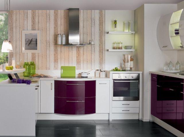 Cuisine avec meubles galbes cuisine plus cuisine for Deco de cuisine zen