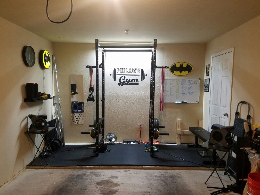 My own garage gym extremely proud of it garage gym in