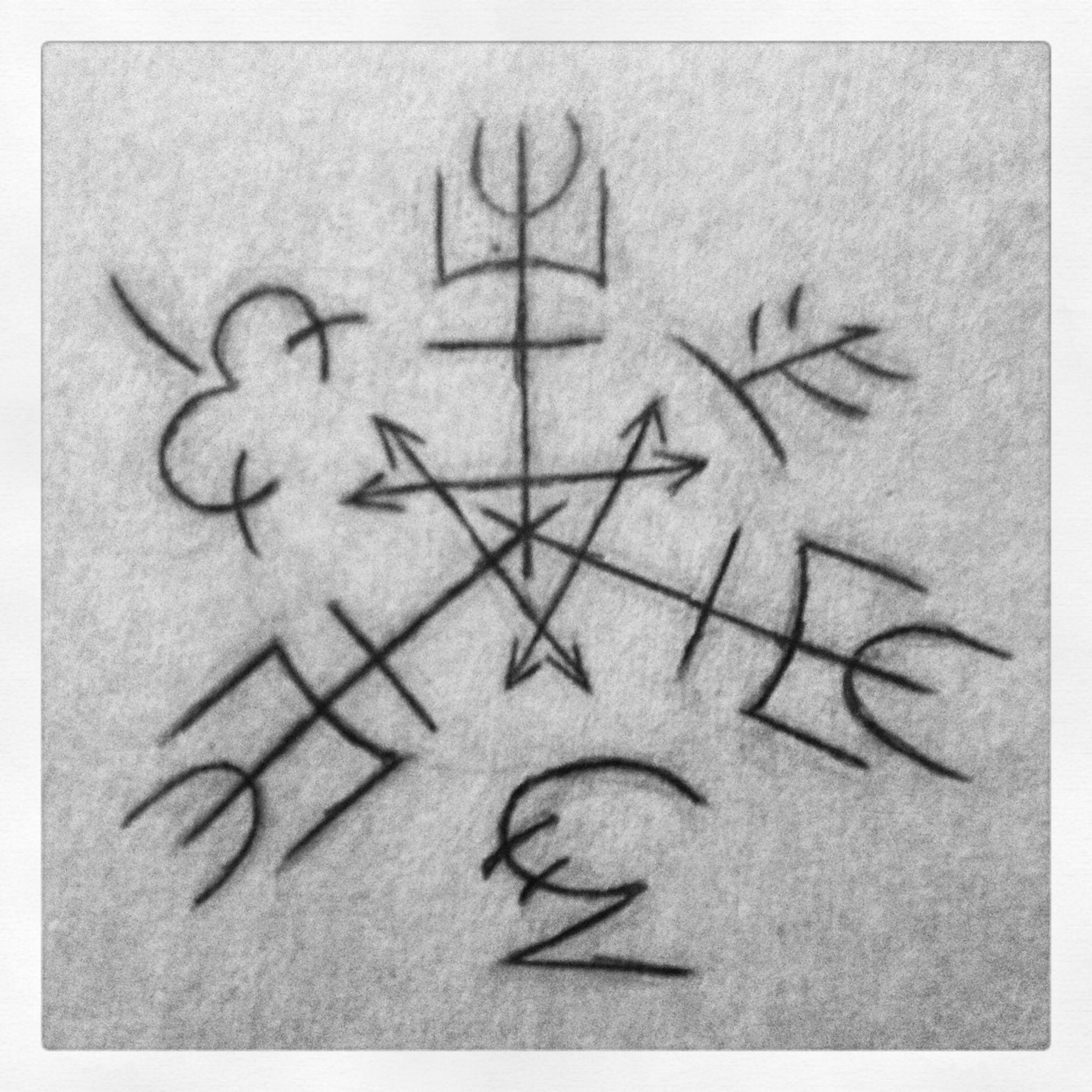 Purgatory Sigil Triangle Tattoo Deathly Hallows Tattoo Symbols