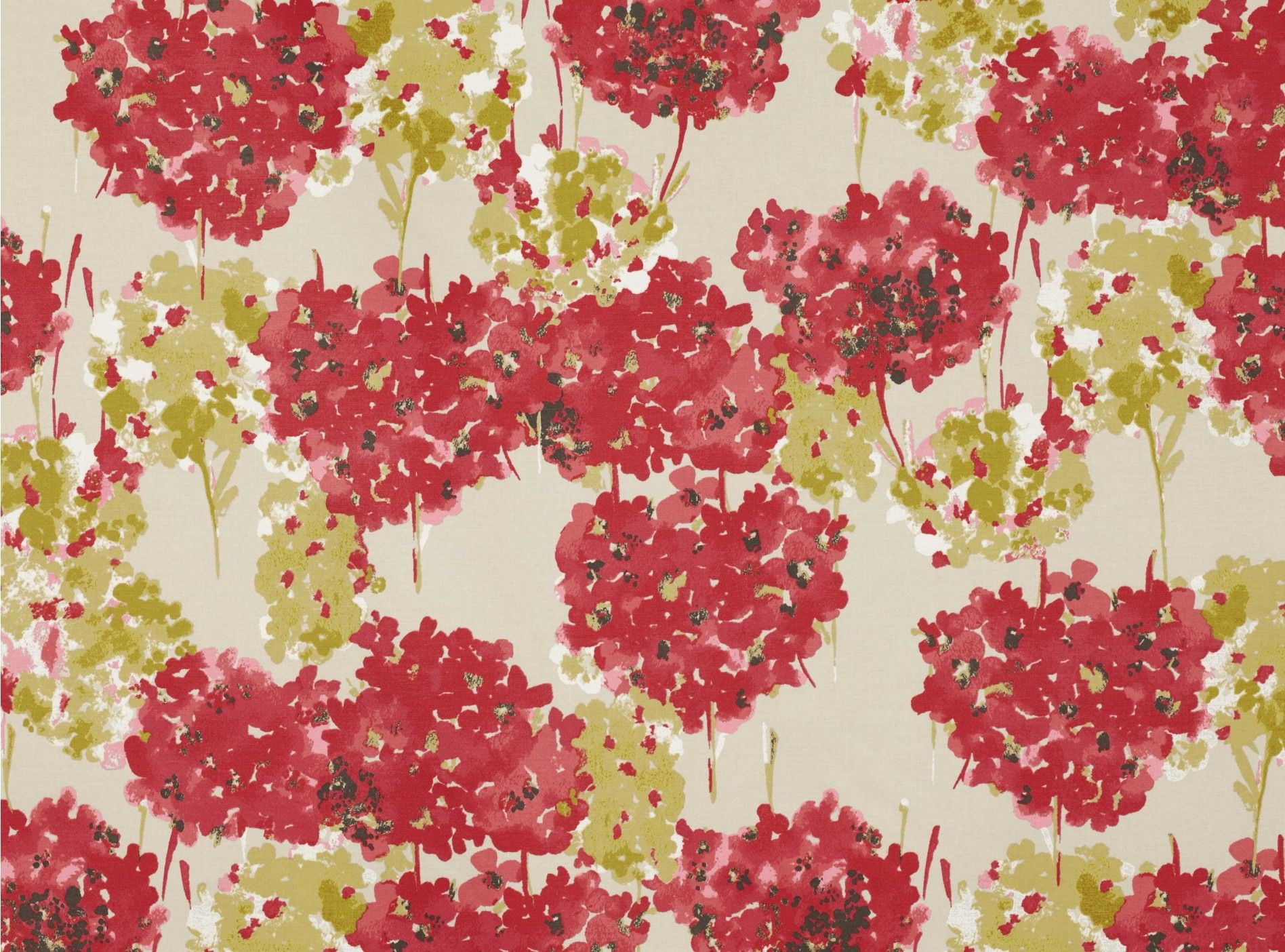 Romo Fleur Red Coral Fabric I Like The Painterly Quality