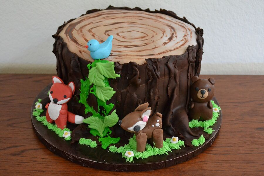 Stump woodland cake