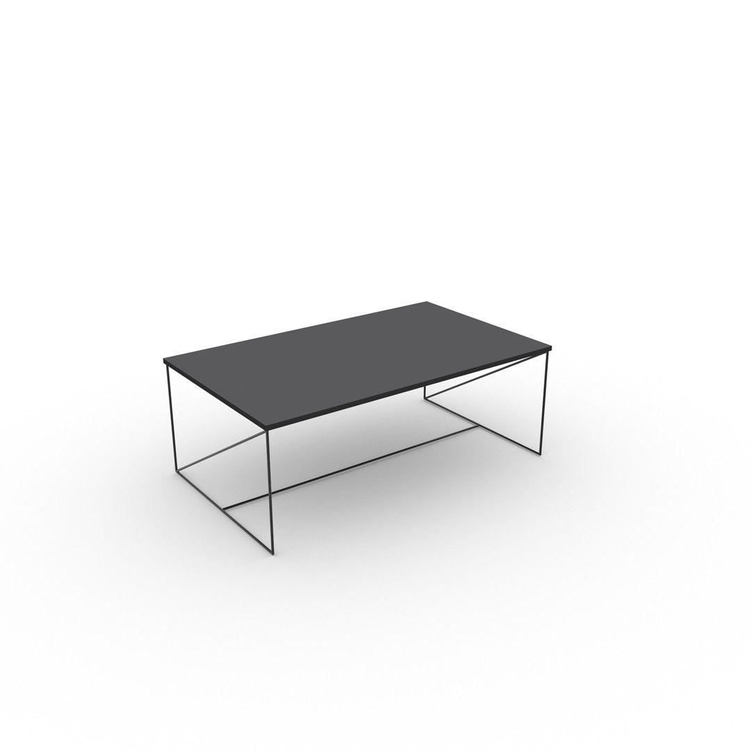 table basse design bois et mtal coloris grisnoir mareva - Table Salon Moderne Design