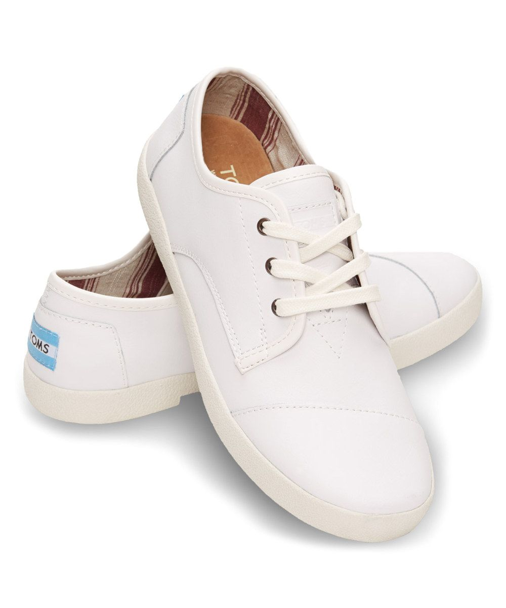 Look at this TOMS White Leather Oxford Paseos on #zulily today!