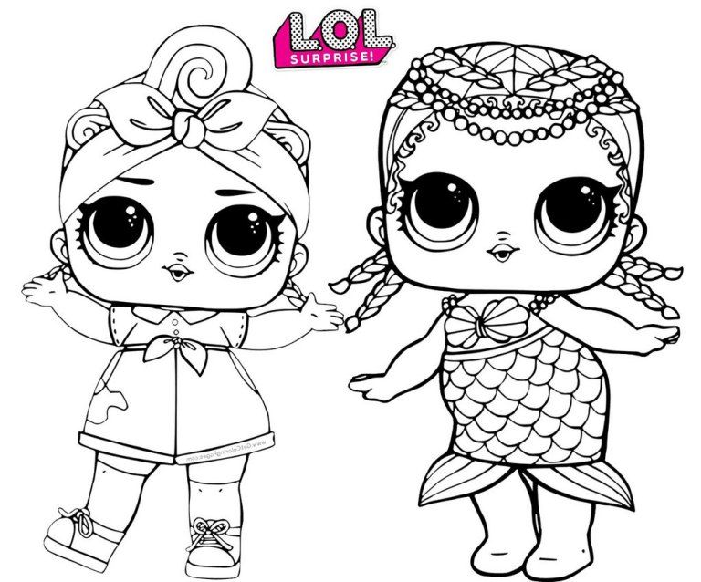 Merbaby Mermaid And Can Do Baby Lol Surprise Coloring Page Lol