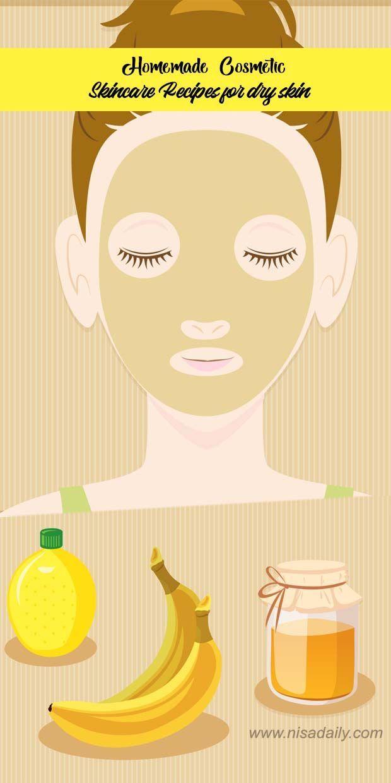 Homemade Cosmetic Skincare Recipes for dry skin #homemadeskincare Homemade Cosme…