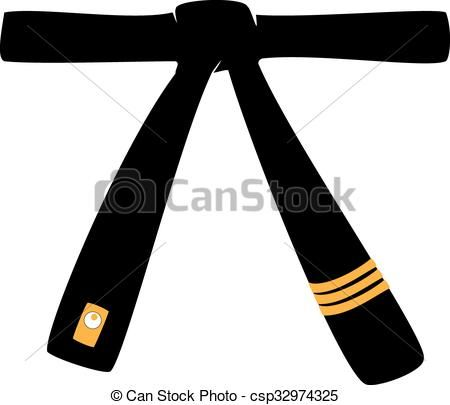 Black Belt Karate Clip Art