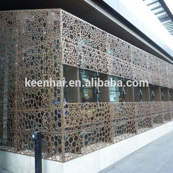laser cutting aluminium decorative outdoor perforated metal wall