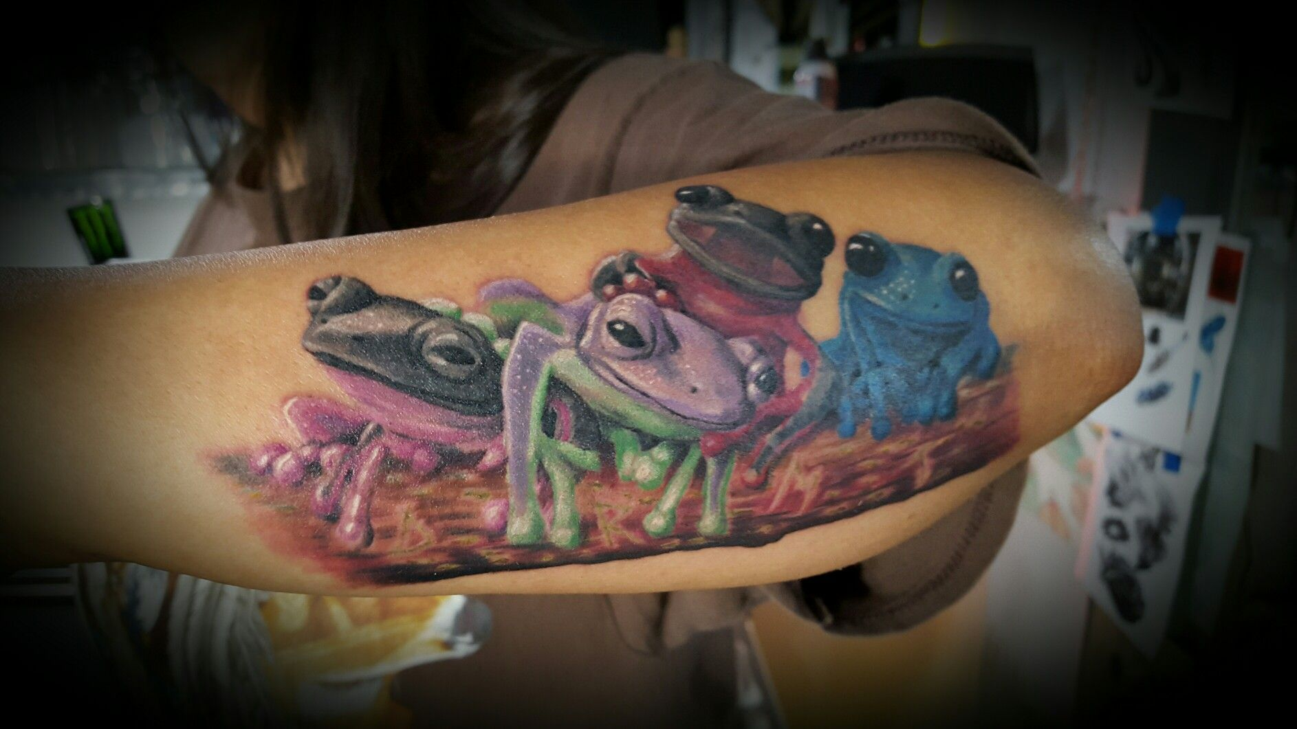 Custom Tree Frog Tattoo Tree Frog Tattoos Frog Tattoos Tattoos