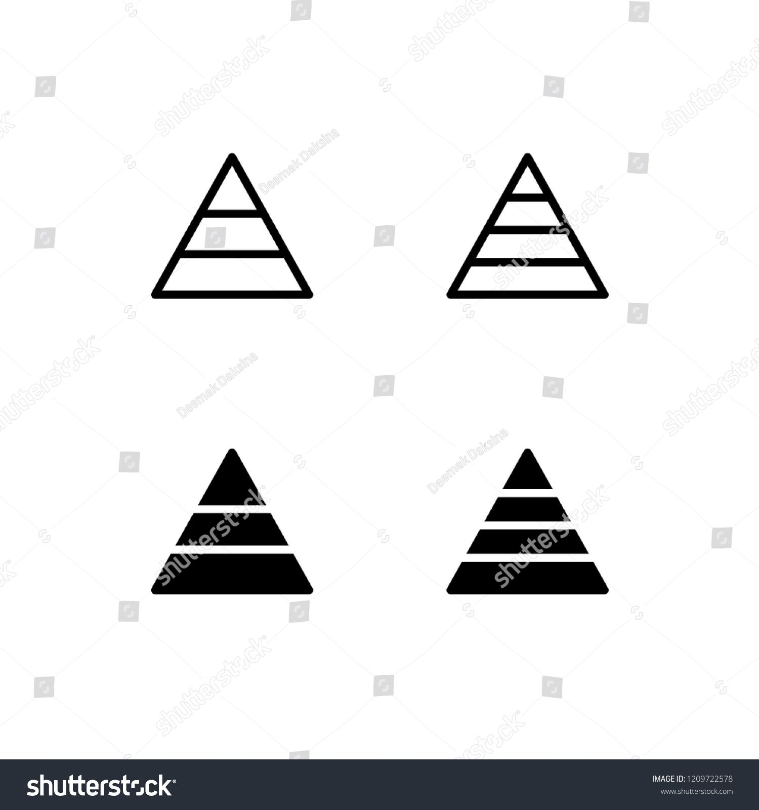 pyramid chart icon design pyramid graph chart diagram pyramid step  [ 1500 x 1600 Pixel ]