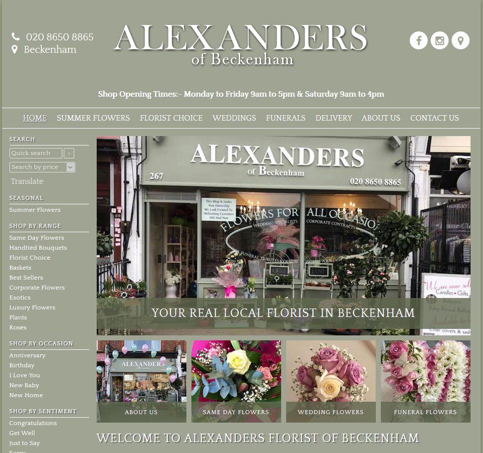 Alexanders florist in beckenham new look website summer