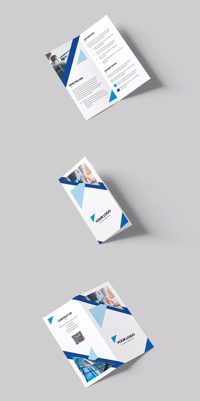 Triangle Multipurpose Bi Fold Dl Brochure Template Psd