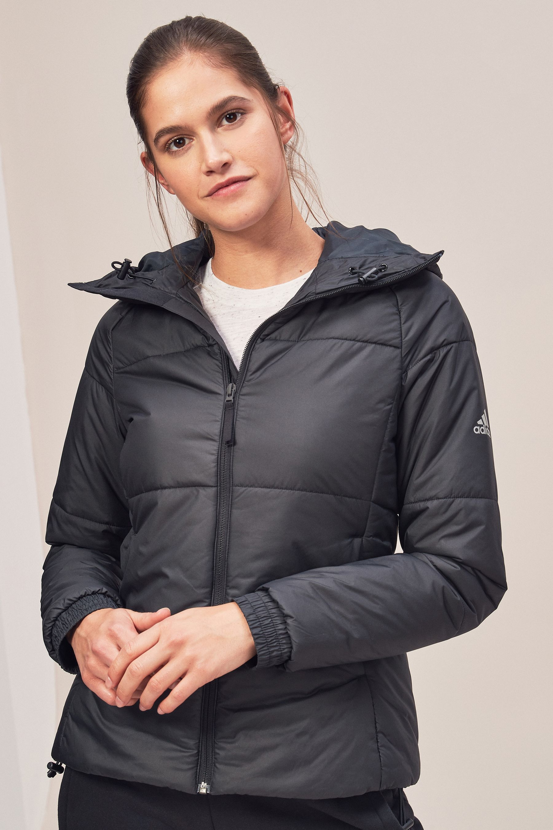 2a0010c3e4ca Womens adidas Padded Jacket - Black