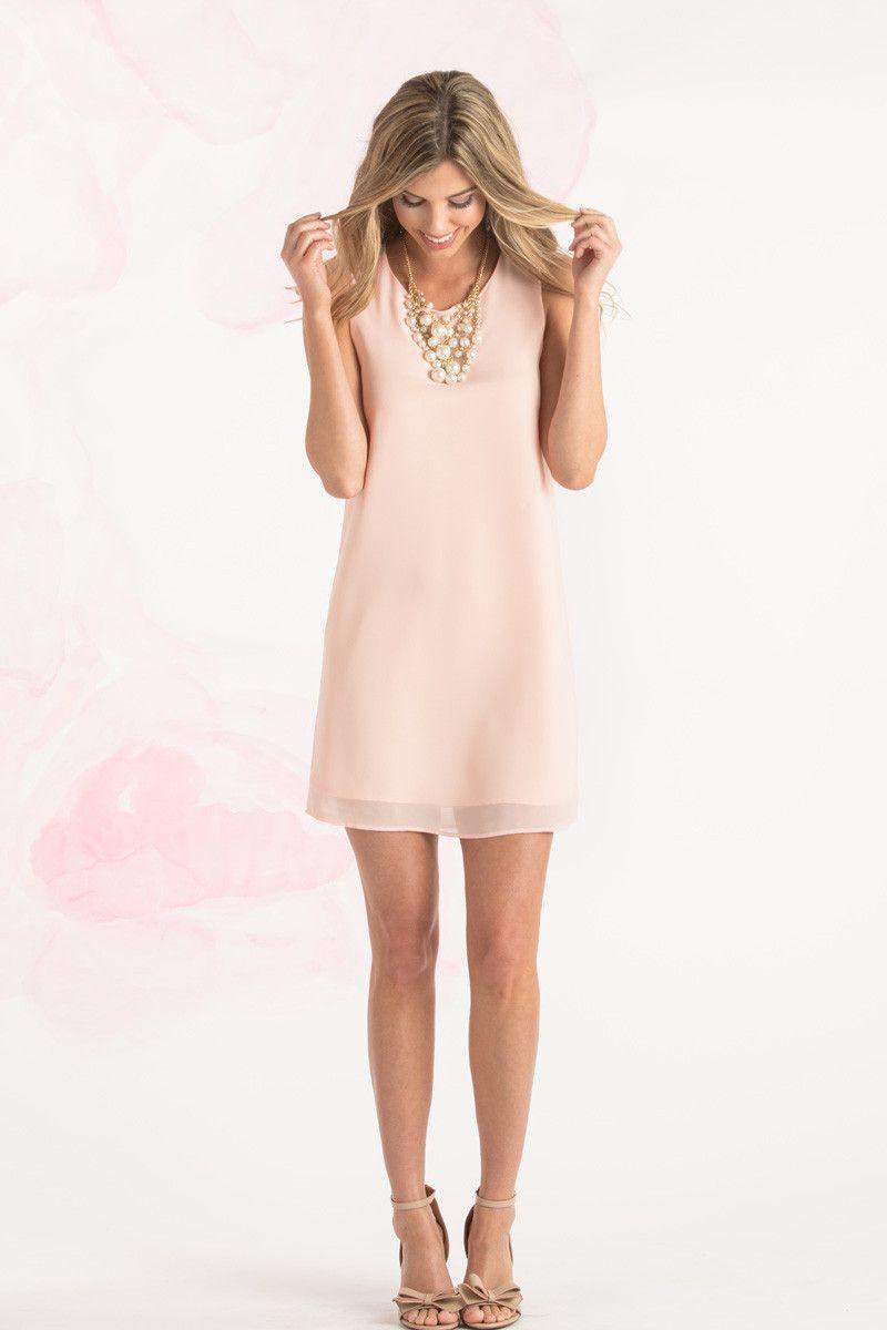 Janice Peach Sleeveless Shift Dress Morning Lavender Peach Dress Outfit Dresses For Work Summer Work Dresses [ 1200 x 800 Pixel ]
