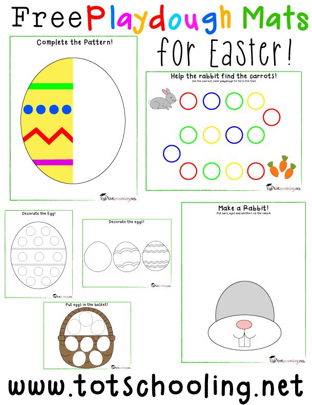 Free Easter Playdough Mats Totschooling Toddler And Preschool Educationa Easter Preschool Easter Activities Easter Activities For Kids