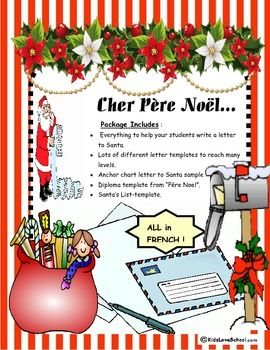christmas cher pre noleverything to write a letter to santa in french