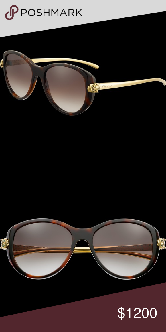 87ee9b1c54962 Authentic Cartier Panthere Sunglasses In amazing condition. Guaranteed  authentic. They have been in the case most of the time.