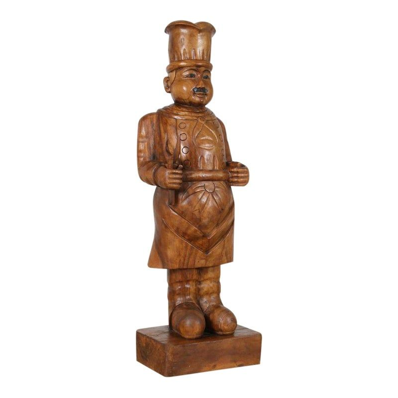 Wooden Chef Statue Statue Life Size Statues Carving