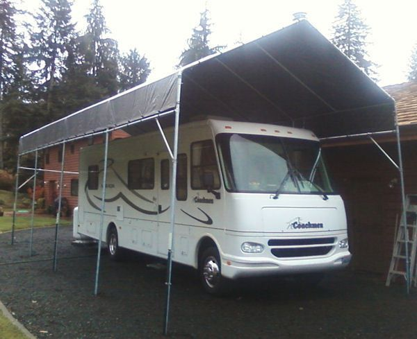 ☀☀▻Make-Your-Own 35\' to 40\' RV Portable Carport Shelter kit ...