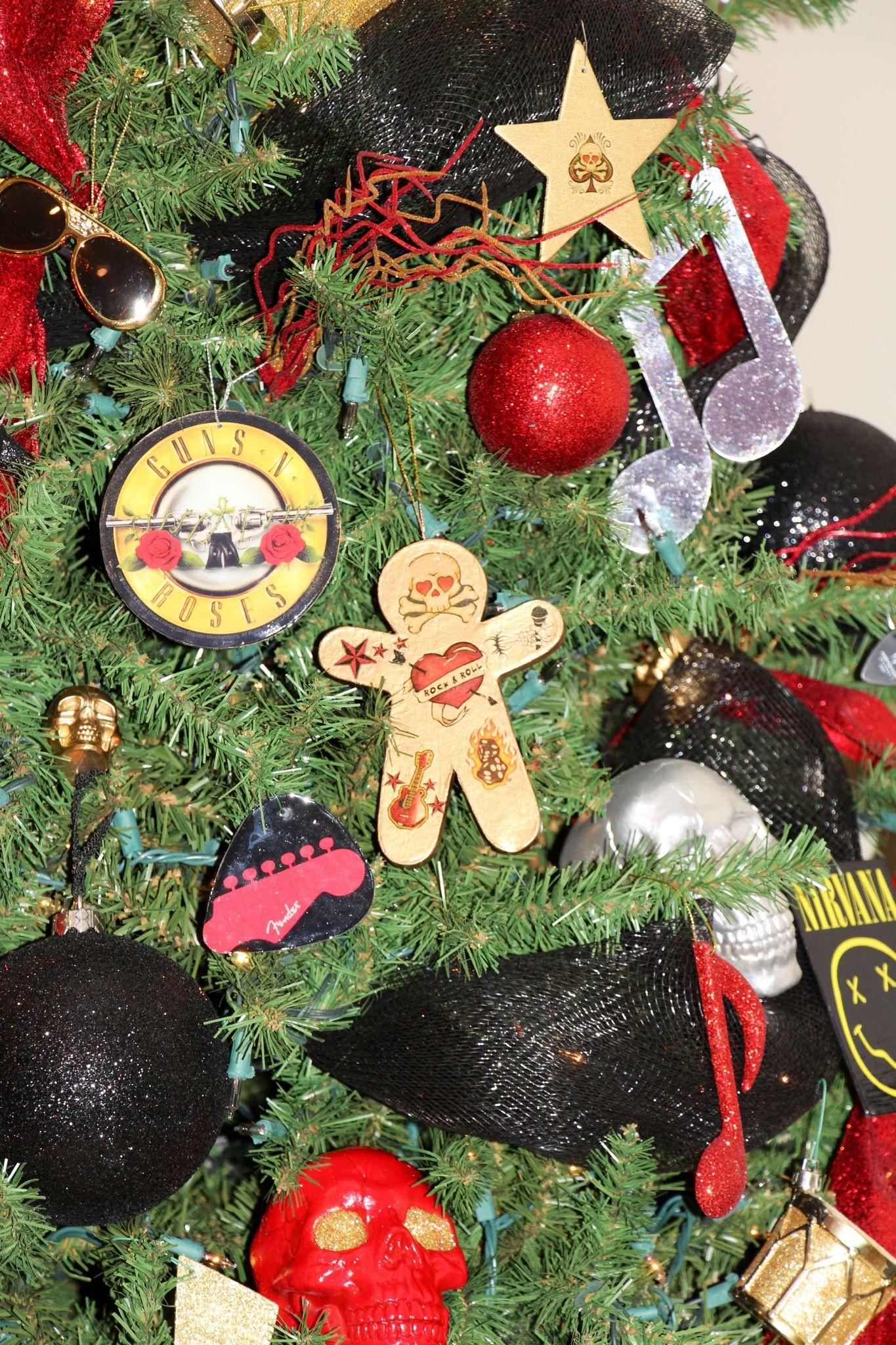 Rock N Roll Christmas Tree in the basement | Christmas spirit, Christmas jingles, Christmas tree ...