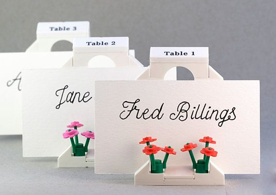 Place Card Holders Lego Wedding Giveaways Themed Table Number Useful Favors Unusual Souvenirs