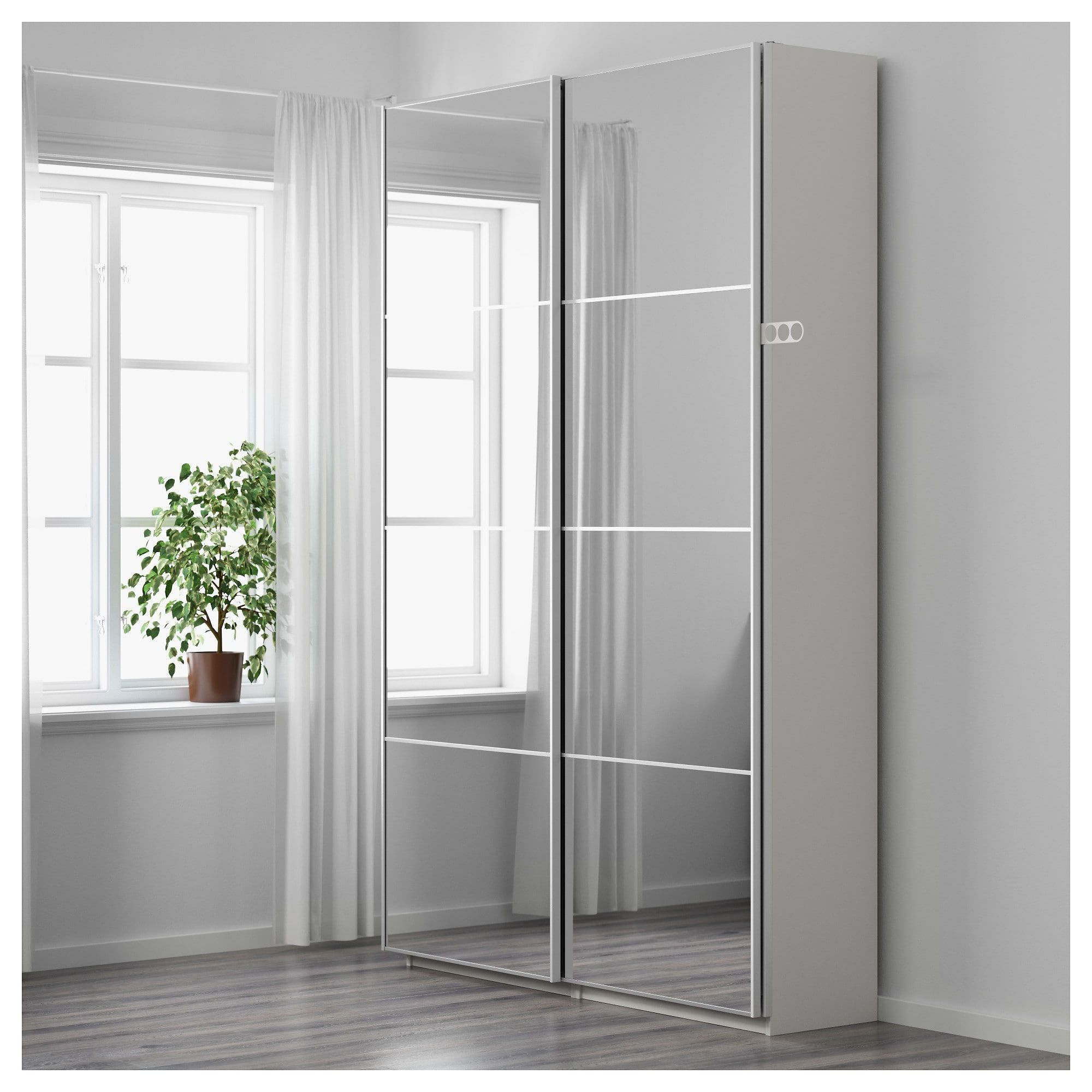 Image Result For Ikea Pax Auli Sliding Mirror Door Wardrobe Een