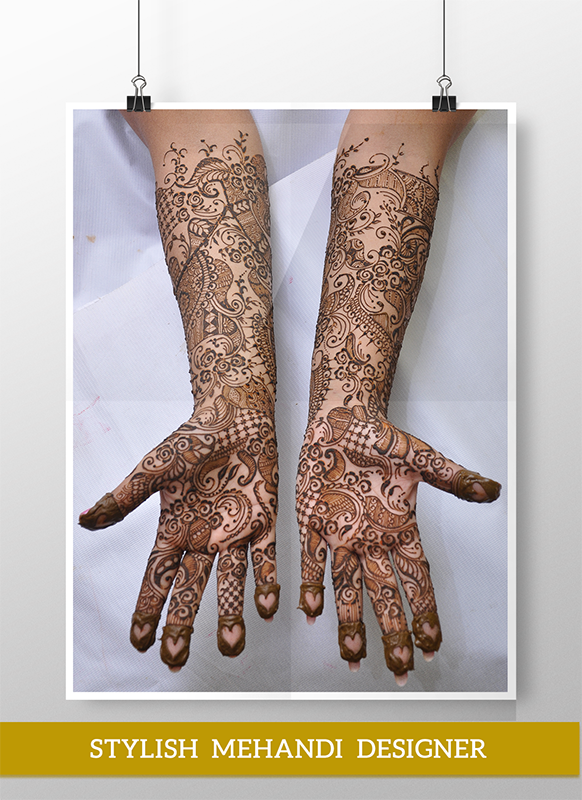 Semi-Bridal Mehandi design by Stylish Mehandi Designer | Designer: Fatema H Koser
