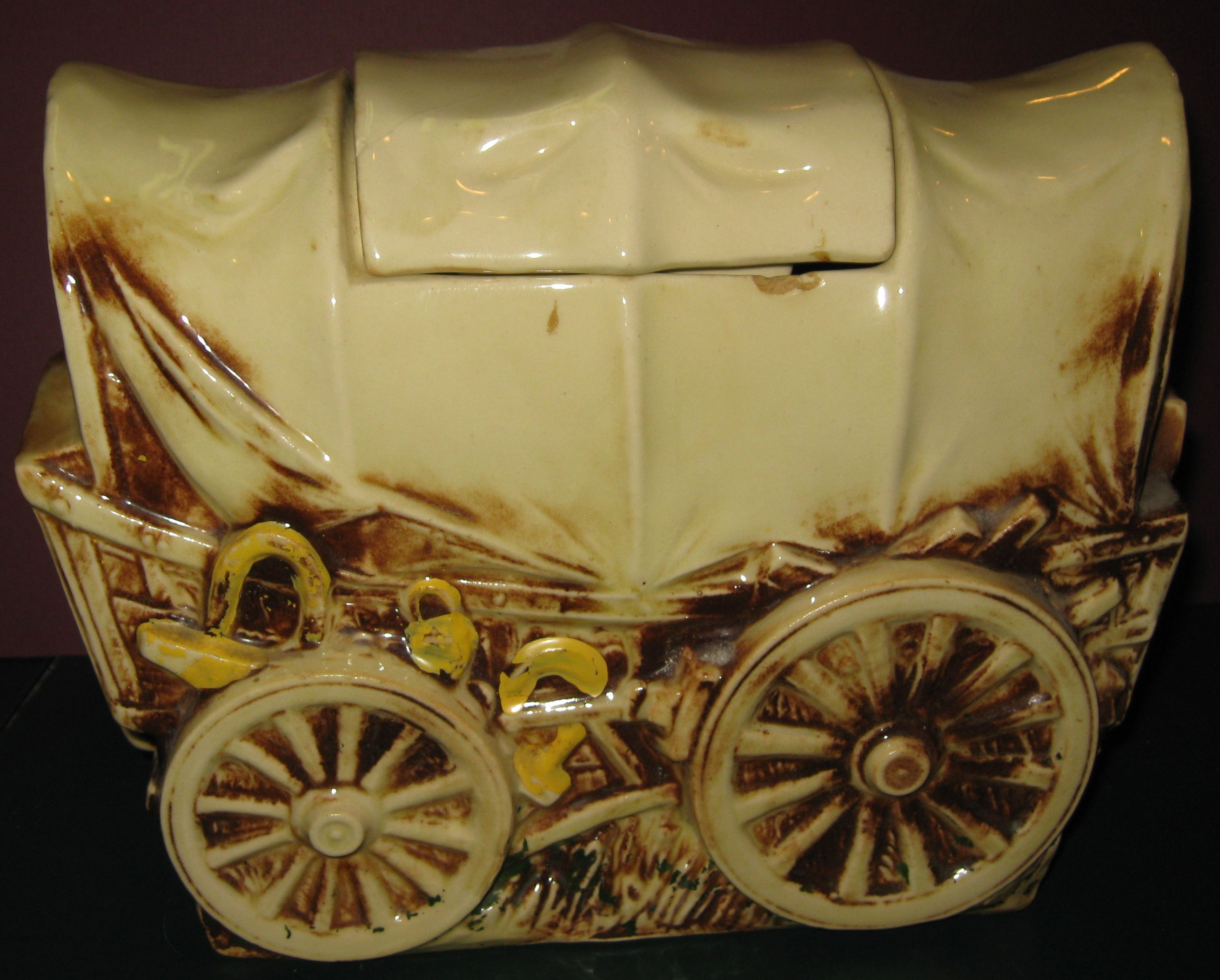 Just Jars Vintage Mccoy Western Wagon Cookie Jar Just Cookie Jars
