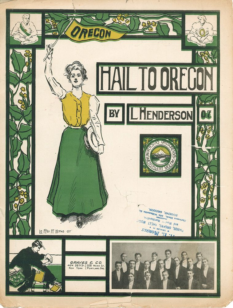 Univeristy Of Oregon Song Hail To Oregon Sheet Music By L