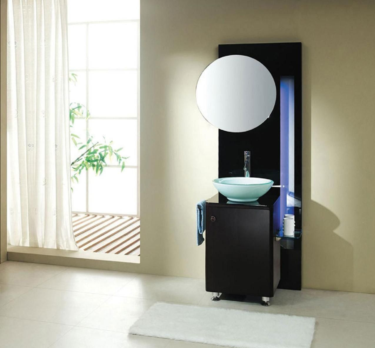 Goodlooking Stylish With Cream Wall Paint Color And Black Cabinet Amusing Small Bathroom Sinks Uk 2018