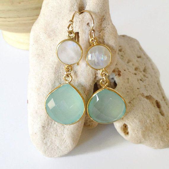 Aqua Bridesmaid Earrings Beach Wedding Jewelry By Ainakai 69 00 Bride Love It