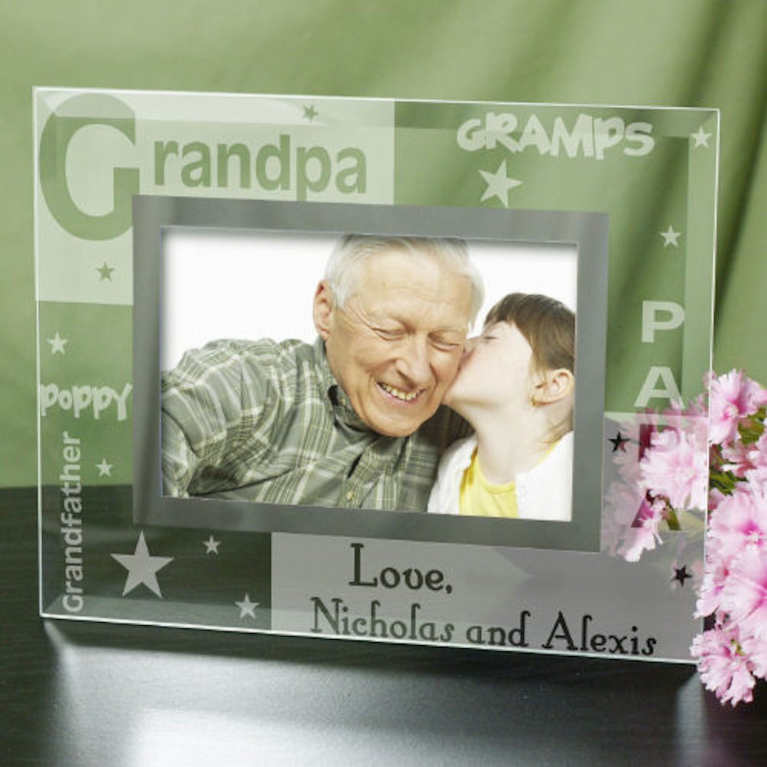 Personalized Engraved Grandpa Glass Frame | Products | Pinterest ...