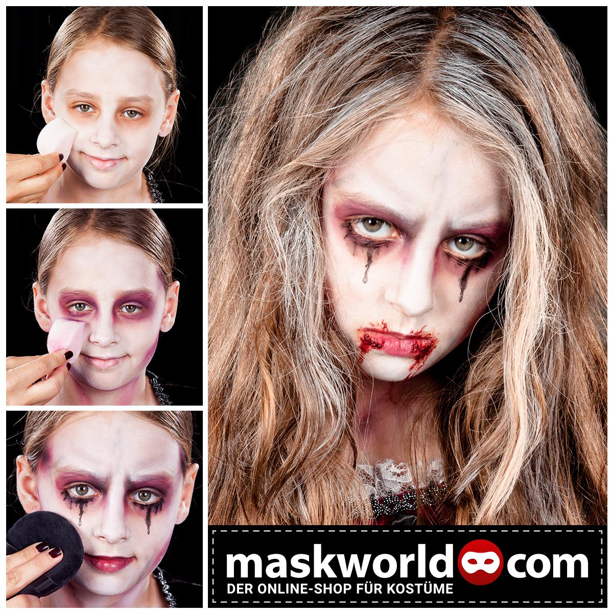 Halloween Horror Makeup Mua Kids Kidsmakeup Kinderschminken