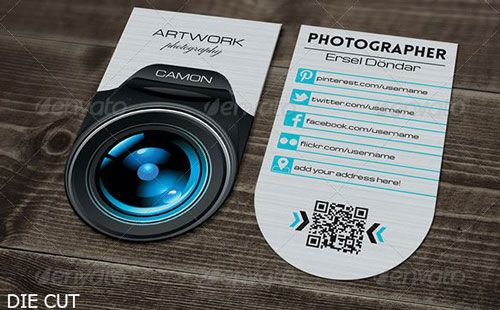 Photographer name Card businesscards psdtemplate printready – Name Card Example