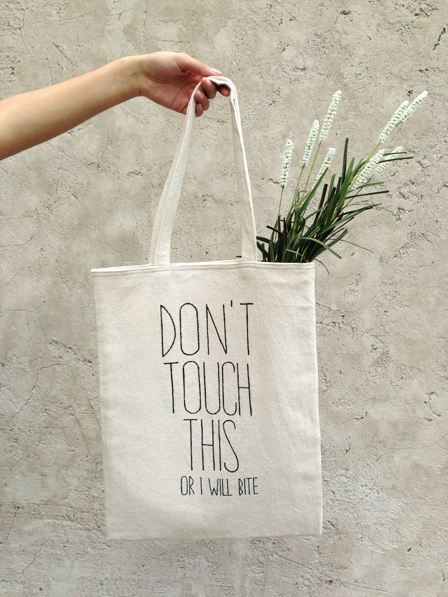 8aa03ca2b2 Natural cotton tote bag. Perfect market handbag with quote. Funny shoulder  bag with text. Trendy street fashion accessory