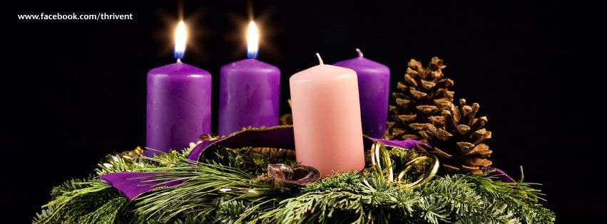 advent candles second sunday facebook cover photo. Black Bedroom Furniture Sets. Home Design Ideas