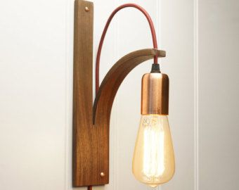 SconceEnglish LampHandmade Wood Wall Ash Light 5AR4L3j