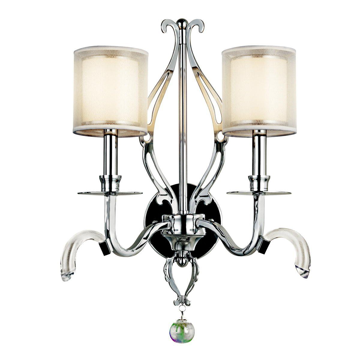 Kichler Lighting 42307CH 2 Light Jardine Wall Sconce ... on Decorative Wall Sconces Candle Holders Chrome Nickel id=49121