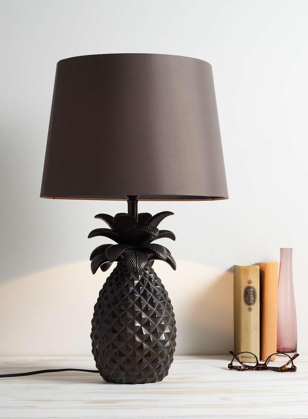 Bronze pineapple table lamp bhs tropical jungle bedroom bronze pineapple table lamp bhs mozeypictures Image collections