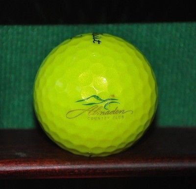 Almaden Country Club San Jose Logo Golf Ball Yellow Titleist Nxt