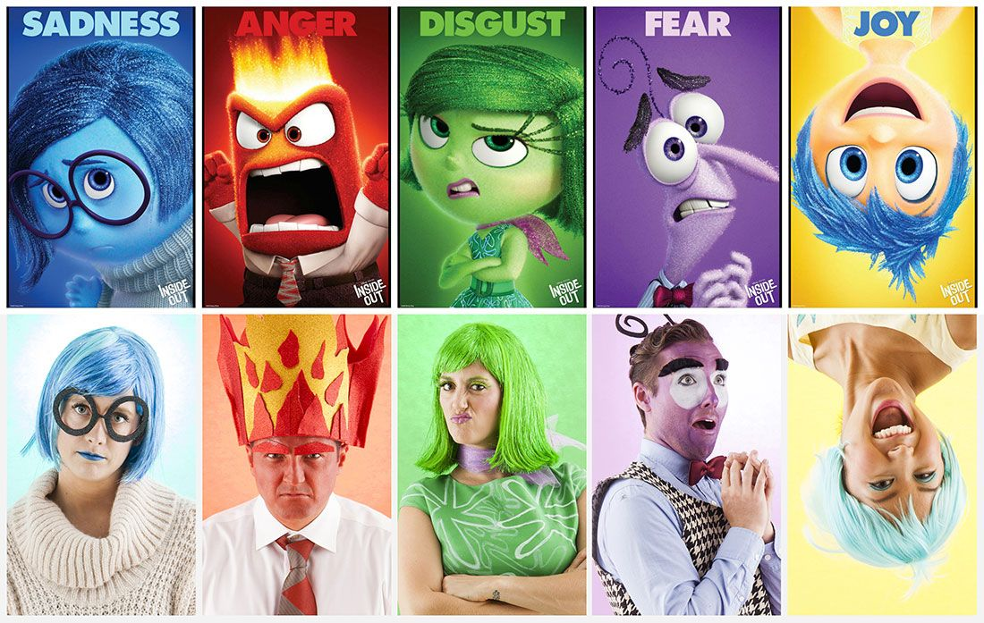 How To Make Inside Out Characters For An Epic Group Halloween Costume Inside Out Halloween Costumes Halloween Costumes Pictures Diy Group Halloween Costumes