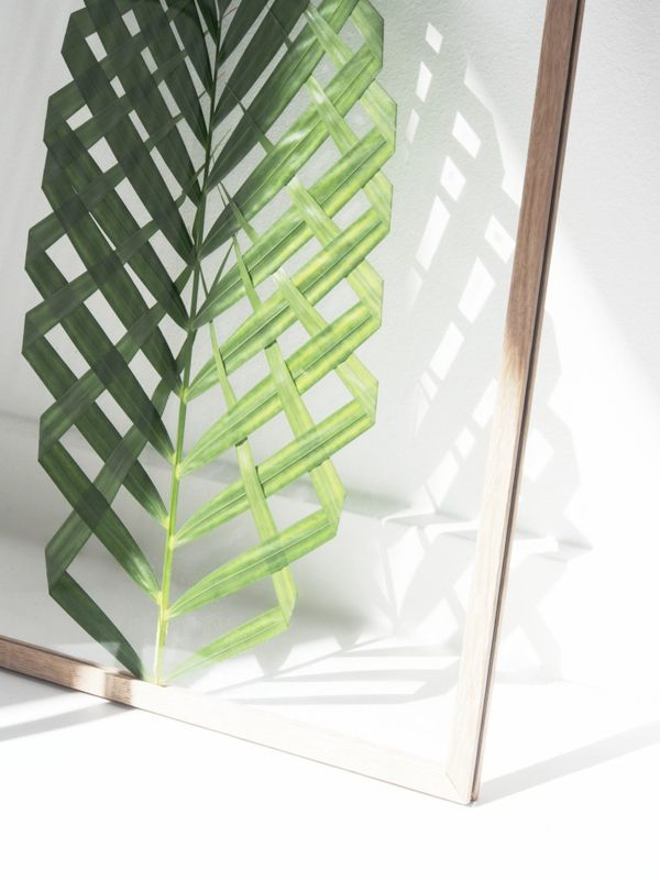 SUMMER DIY PROJECT: FRAMED PALM LEAF | THE STYLE FILES | FOR THE ...