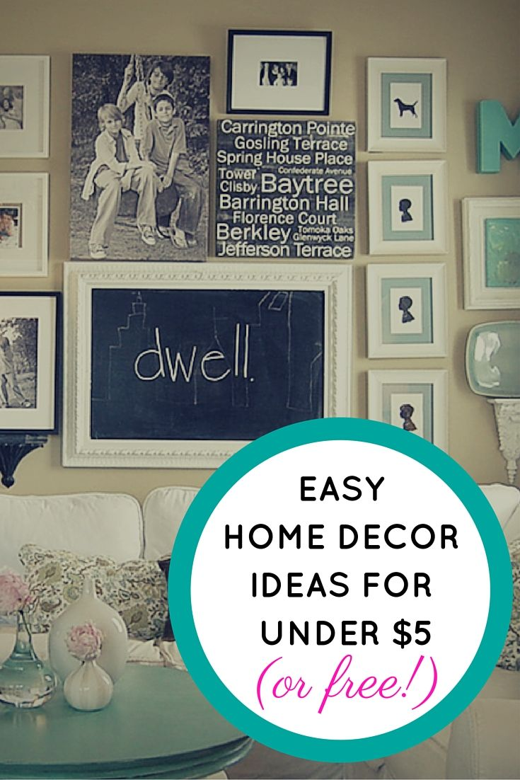 Easy Home Decor Ideas For Under 5 Or Free Diy