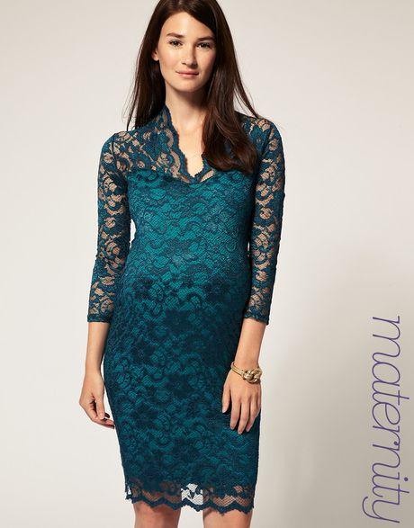 df62f9ac49 Women s Green Asos Maternity Katie Lace Dress